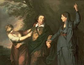 Bild-Nr: 31002232 David Garrick between the Muses of Tragedy and Comedy 1760-61 Erstellt von: Reynolds, Sir Joshua