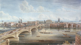 Bild-Nr: 31002288 Another View of New London Bridge, showing the West Front, looking towards South Erstellt von: Yates, Gideon