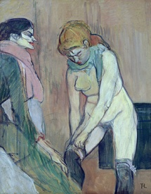 Bild-Nr: 31002328 Woman Putting on her Stocking, or Woman of the House, c.1894 Erstellt von: Toulouse-Lautrec, Henri de