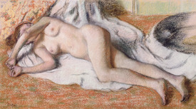 Bild-Nr: 31002362 After the Bath or, Reclining Nude, c.1885 Erstellt von: Degas, Edgar