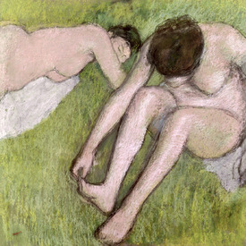 Bild-Nr: 31002368 Two Bathers on the Grass, c.1886-90 Erstellt von: Degas, Edgar