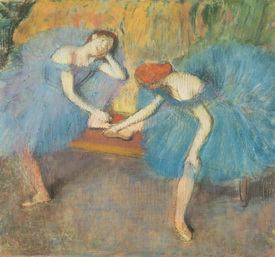 Bild-Nr: 31002389 Two Dancers at Rest or, Dancers in Blue, c.1898 Erstellt von: Degas, Edgar