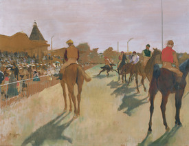 Bild-Nr: 31002400 The Parade, or Race Horses in front of the Stands, c.1866-68 Erstellt von: Degas, Edgar