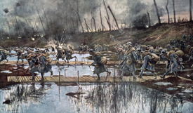 Bild-Nr: 31002458 The Battle of the Yser in 1914 Erstellt von: Flameng, Francois