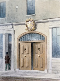 Bild-Nr: 31002467 The Entrance to Coachmakers Hall, 1854 Erstellt von: Shepherd, Thomas Hosmer