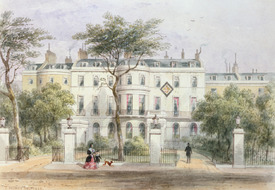 Bild-Nr: 31002472 West front of Sir Robert Peel's House in Privy Garden 1851 Erstellt von: Shepherd, Thomas Hosmer
