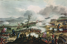 Bild-Nr: 31002489 Battle of Nivelle, 10th November, 1813, engraved by Thomas Sutherland, 1813 Erstellt von: Heath, William