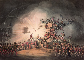 Bild-Nr: 31002491 Storming of Ciudad Rodrigo, 19th January, 1813 aquatinted by Thomas Sutherland Erstellt von: Heath, William