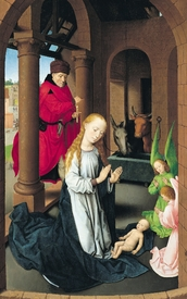 Bild-Nr: 31002503 The Nativity, left wing of a triptych of the Adoration of the Magi, c.1470-72 Erstellt von: Memling, Hans