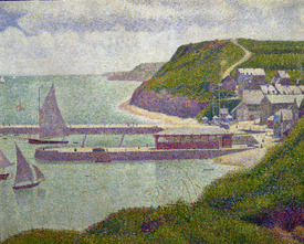 Bild-Nr: 31002515 Harbour at Port-en-Bessin at High Tide, 1888 Erstellt von: Seurat, Georges Pierre