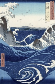 Bild-Nr: 31002623 View of the Naruto whirlpools at Awa, from the series 'Rokuju-yoshu Meisho zue' Erstellt von: Hiroshige, Ando