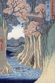 Bild-Nr: 31002624 The monkey bridge in the Kai province, from the series 'Rokuju-yoshu Meisho zue' Erstellt von: Hiroshige, Ando