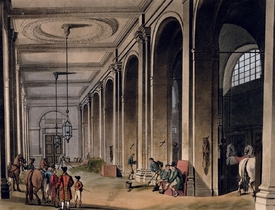 Bild-Nr: 31002630 Kings Mews, Charing Cross from Ackermann's 'Microcosm of London' Erstellt von: Rowlandson, Thomas