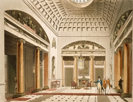 Bild-Nr: 31002631 The Hall, Carlton House, from Ackermann's 'Microcosm of London' Erstellt von: Rowlandson, Thomas