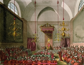 Bild-Nr: 31002638 House of Lords from Ackermann's 'Microcosm of London' Erstellt von: Rowlandson, Thomas