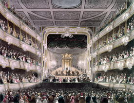 Bild-Nr: 31002639 Covent Garden Theatre, 1808, from 'Ackermann's Microcosm of London' engraved by  Erstellt von: Rowlandson, Thomas