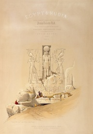 Bild-Nr: 31002791 The Entrance to the Great Temple of Aboo Simble, Nubia, titlepage of Volume I of Erstellt von: Roberts, David