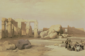 Bild-Nr: 31002793 Fragments of the Great Colossus, at the Memnonium, Thebes, 1937 BC Erstellt von: Roberts, David