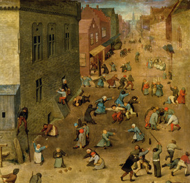Bild-Nr: 31002833 Children's Games : detail of top right hand corner, 1560 Erstellt von: Bruegel, Pieter the Elder