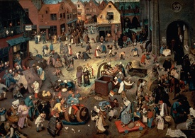 Bild-Nr: 31002846 Fight between Carnival and Lent, 1559 Erstellt von: Bruegel, Pieter the Elder