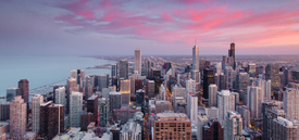 Chicago - Sunset Colors/10967956