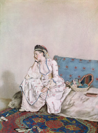 Bild-Foto 31002566 Portrait of Mary Gunning, Countess of Coventry, 1749 erstellt von Liotard, Jean-Etienne
