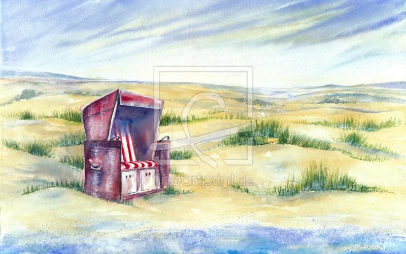 Strandkorb vorlage  roter Strandkorb als Leinwand von JitkaKrause erhältlic...