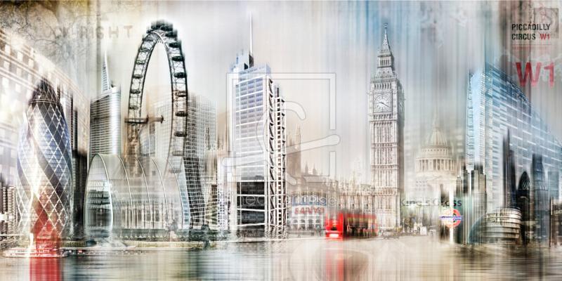 london skyline abstrakt als leinwand von nettesart erh. Black Bedroom Furniture Sets. Home Design Ideas