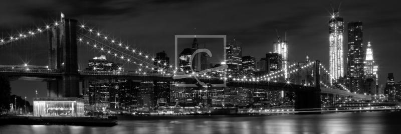 night skylines new york city b w als leinwand von. Black Bedroom Furniture Sets. Home Design Ideas