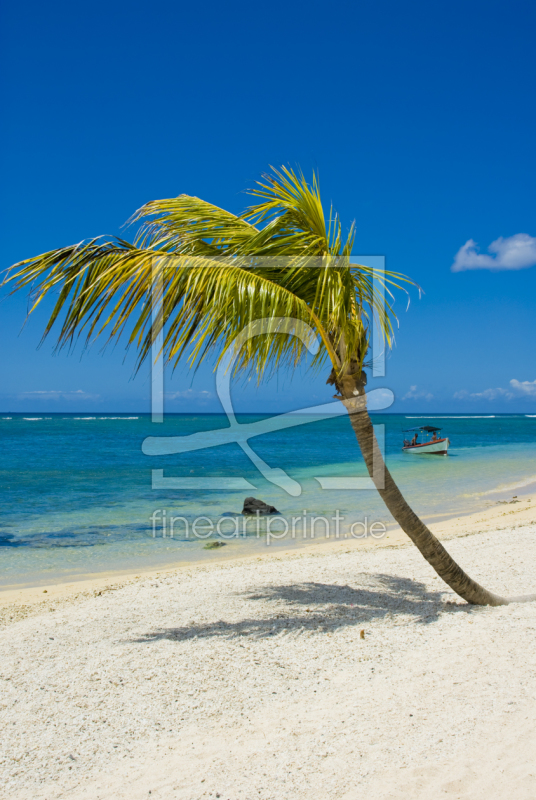 mauritius strand hochformat als leinwand von cibo erh. Black Bedroom Furniture Sets. Home Design Ideas