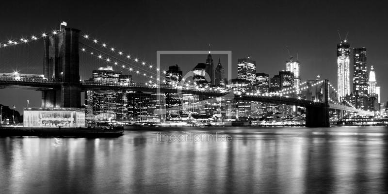 night skyline new york black white als leinwand vo. Black Bedroom Furniture Sets. Home Design Ideas