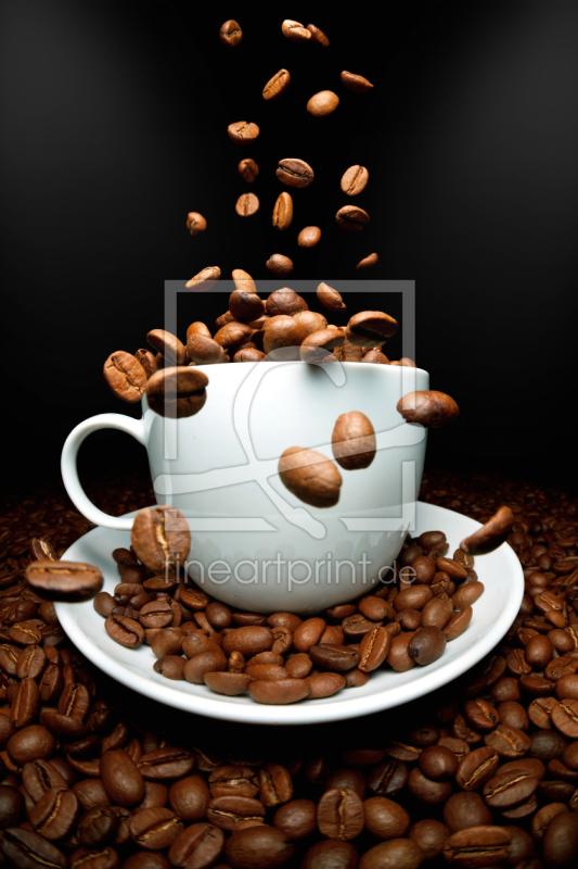 kaffee fallende bohnen als leinwand von thomas un. Black Bedroom Furniture Sets. Home Design Ideas