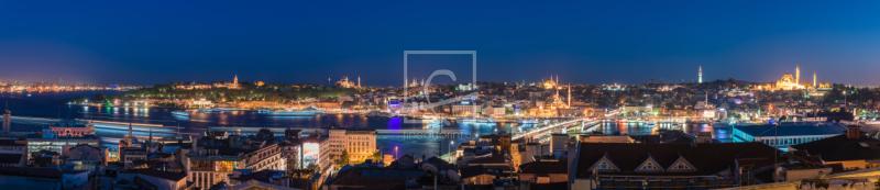istanbul altstadt skyline panorama gesamt als metall v. Black Bedroom Furniture Sets. Home Design Ideas