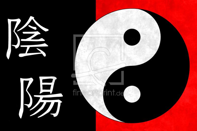 Yin Yang als Leinwand von Darlya erhältlich bei Fine Art Print