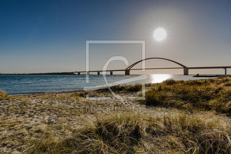 Fehmarnsundbrücke als Fensterfolie von Ursula Reins e