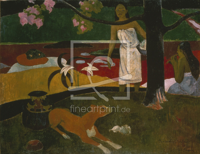 gauguin pastorales tahitiennes 1893 als tapete von g. Black Bedroom Furniture Sets. Home Design Ideas