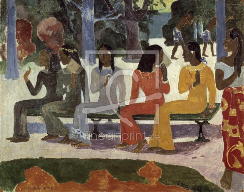 gauguin ta matete 1892 als tapete von gauguin pa. Black Bedroom Furniture Sets. Home Design Ideas