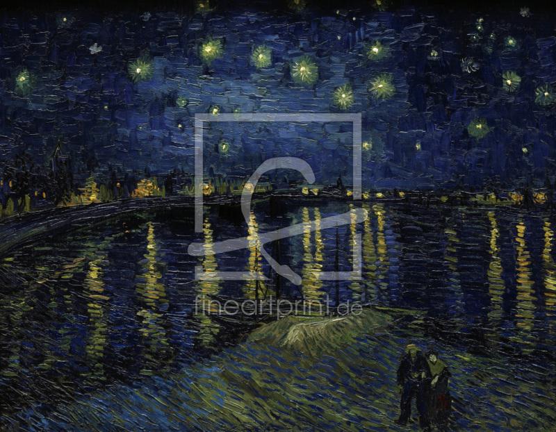 van Gogh Starry night over the Rhône als Leinwand von van