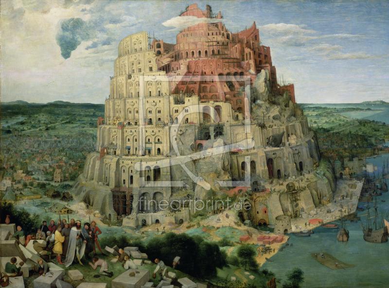 tower of babel 1563 als leinwand von bruegel pieter t. Black Bedroom Furniture Sets. Home Design Ideas