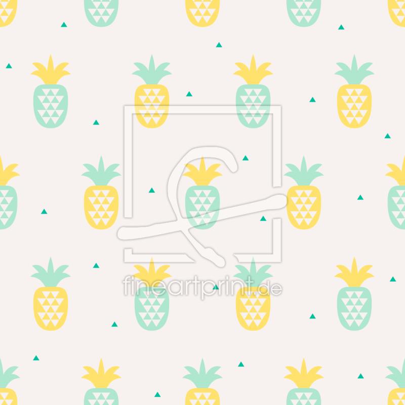 ananas trifft dreiecke als teppich von patterndesigns c. Black Bedroom Furniture Sets. Home Design Ideas