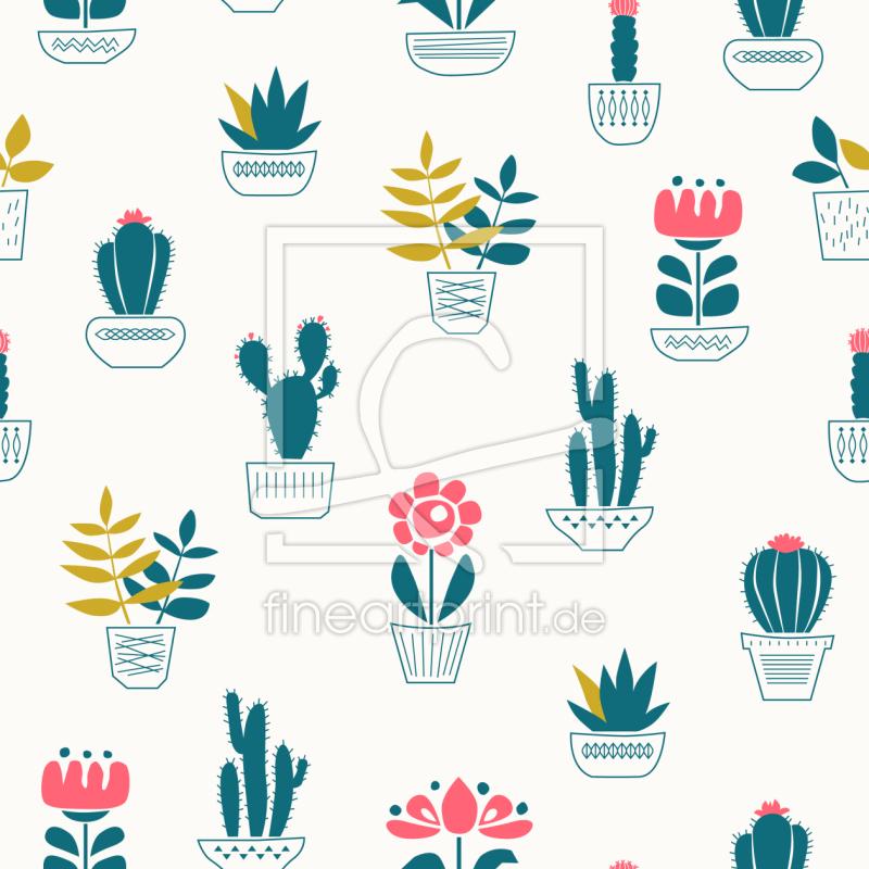 kaktusheimat als tapete von patterndesigns com erh ltli. Black Bedroom Furniture Sets. Home Design Ideas
