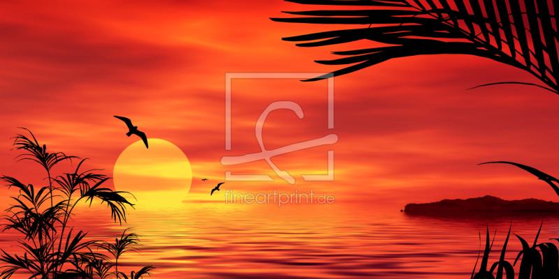 sunset red sonnenuntergang als leinwand von gerhard. Black Bedroom Furniture Sets. Home Design Ideas