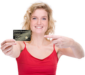 Women with card