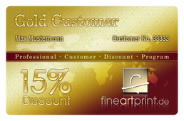 Gold Customer Card