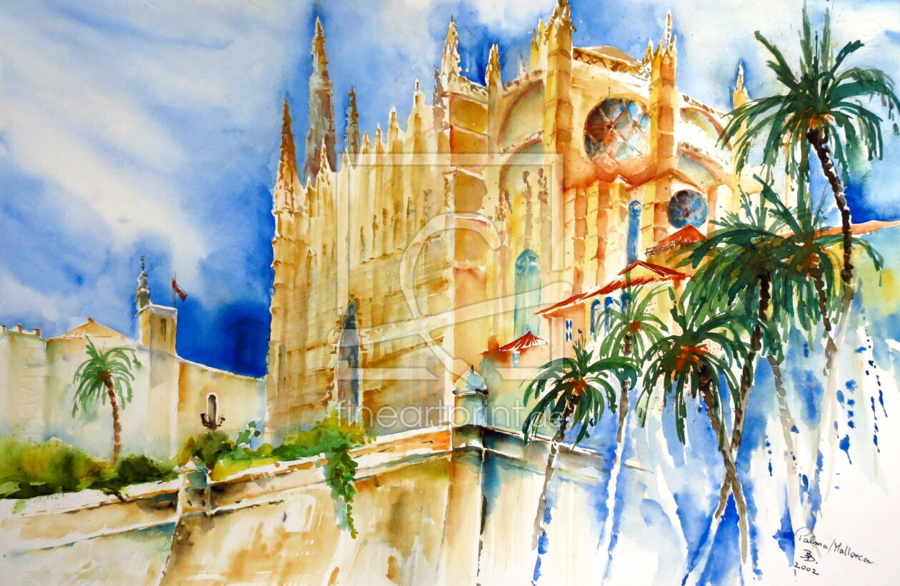 Palma de Mallorca - Kathedrale as a canvas print 10716...