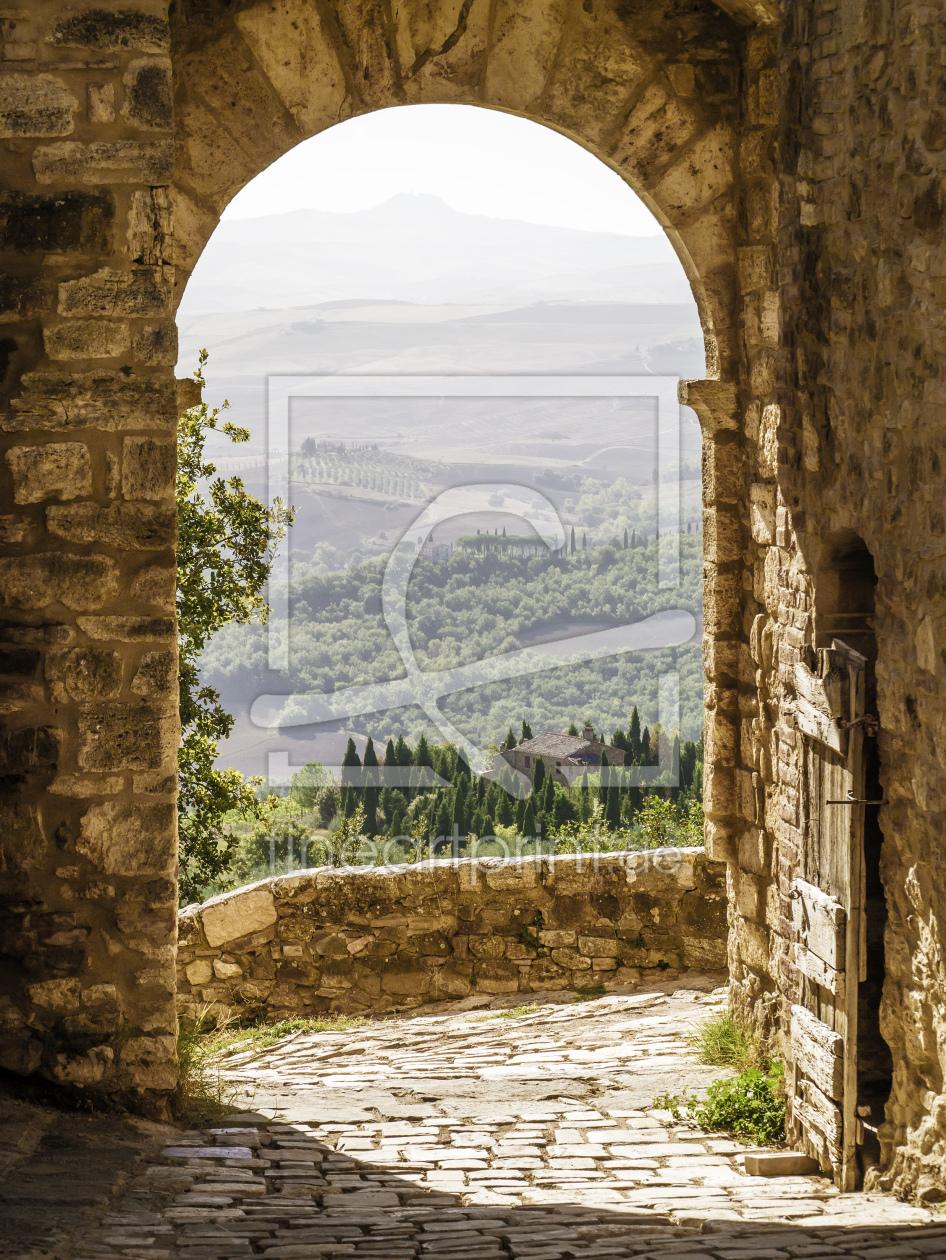 Toskana Landschaft as a canvas print 11046733 | Fine ...