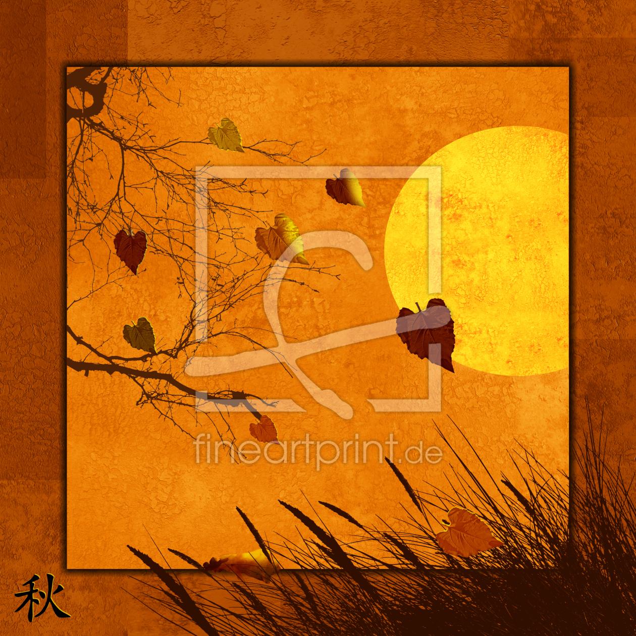 Serie vier Jahreszeiten: 3 Herbst as a canvas print 1109...