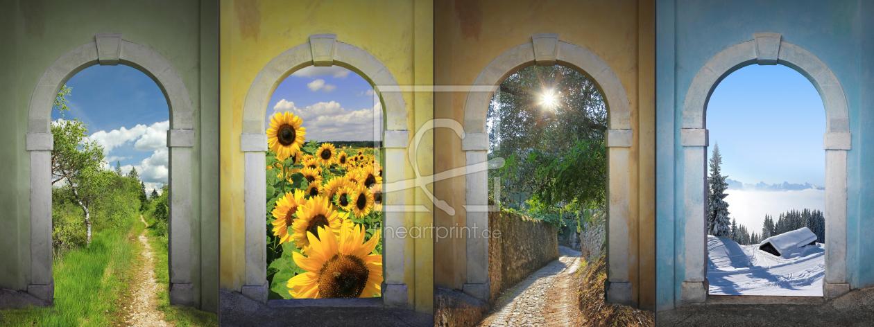 Collage - Vier Jahreszeiten IV as a canvas print 111732...