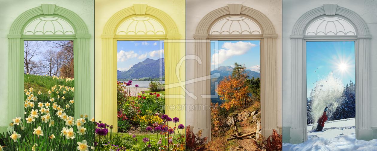 Vier Jahreszeiten - Collage II as a canvas print 115326...