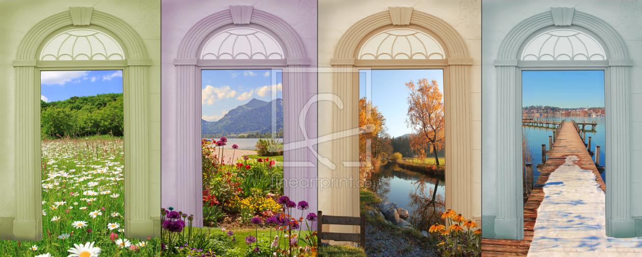Vier Jahreszeiten - Collage V as a canvas print 1154721...